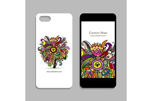 Mobile phone design, floral