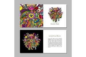 Business cards design, floral