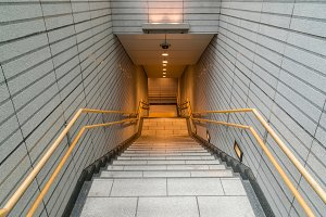 Staircase located in underground hal