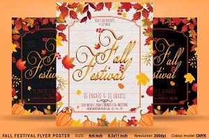 Fall Festival Flyer Poster