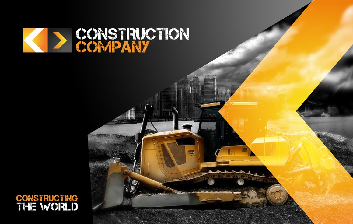 Rw construction company identity stationery templates for Construction brochure design pdf
