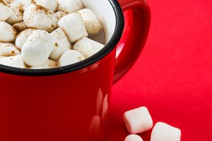 Christmas cocoa with marshmallow