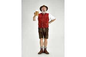 Portrait of Oktoberfest man, wearing