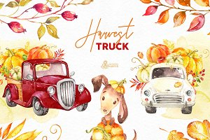 Harvest Truck. Fall Collection.