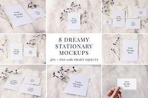 Dreamy Stationary Mockup Bundle