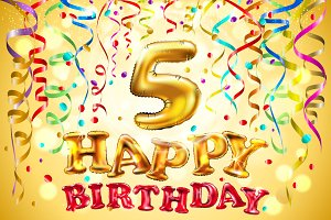 balloon Happy birthday 1 - 5 years