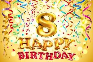 balloon Happy birthday 6 - 10 years