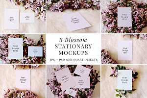 Blossom Stationary Mockup Bundle