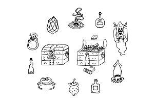 Treasure chest cartoon stickers