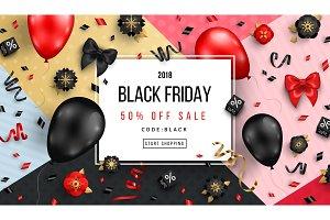 Black Friday on geometric background