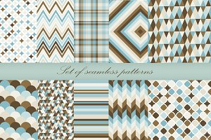 Set of 10 retro geometry backgrounds