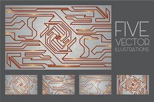 Futuristic techno textures