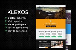 Klexos - A Modern PSD Template