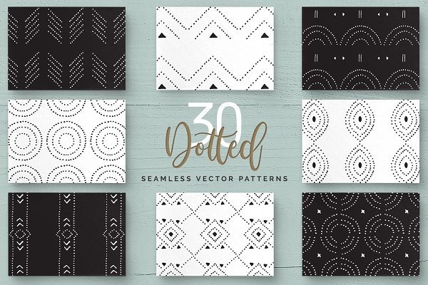 Patterns: Youandigraphics - Dotted Vector Patterns & Tiles