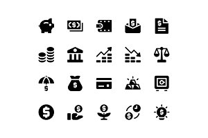 Financial Glyph Icons