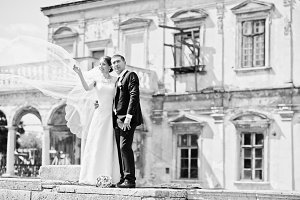 Wedding couple background old vintag