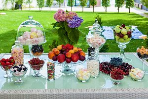 Fruit candy bar for a party