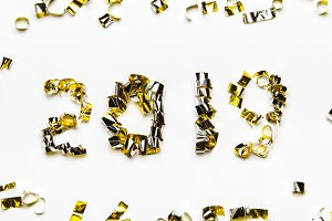 Golden numbers of confetti