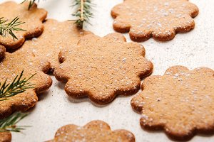 Sweet thin ginger cookies