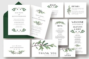 Stylish Dusty Green Wedding Suite