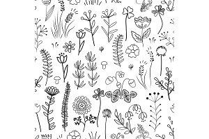 Floral seamless pattern. Vintage