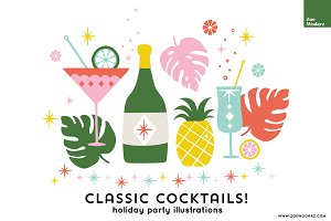 Holiday Cocktail Party Icons