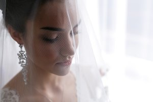 beautiful young bride in a wedding