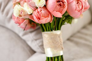 wedding flowers from pink rose