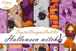 Halloween witches paper