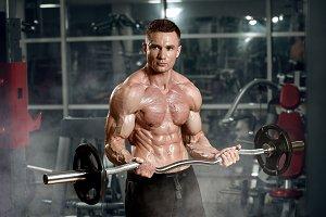 bodibuilder in a gym