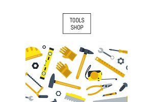 Vector flat construction tools