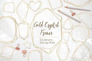 22 Gold foil geometric frames