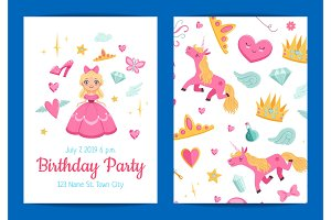 Vector magic and fairytale birthday