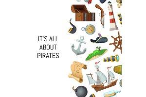 Vector cartoon sea pirates