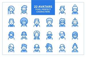 22 Avatar Icons