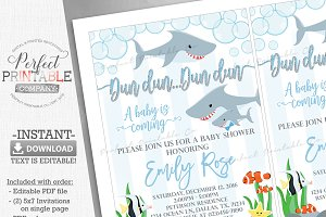 Shark Baby Shower Invitation