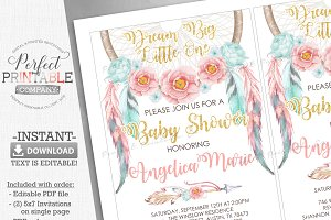 Dreamcatcher Baby Shower Invitation
