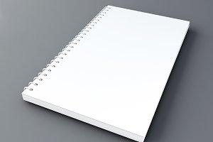 3d Notebook mockup