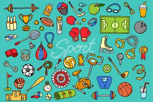Sports themed set. Active games.