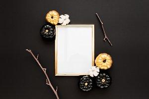 Gold frame Halloween
