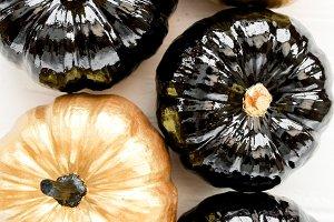 Decorative pumpkin black and gold