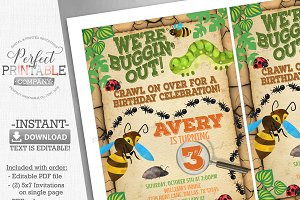 Bug Insect Birthday Party Invitation