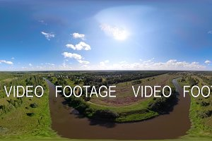 VR360 Landscape with river and trees