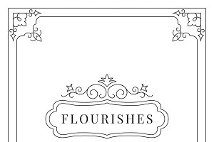 Flourishes vintage ornament frame