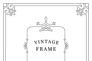 Vintage ornament frame