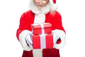 Christmas. Smiling Santa Claus in