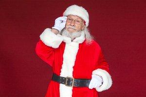 Christmas. Serious Santa Claus in