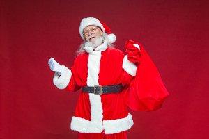 Christmas. Kind smiling Santa Claus