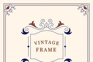 Vintage ornament frame illustration