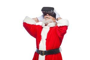 Christmas. Santa Claus in black